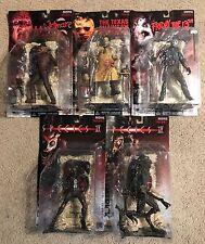 McFarlane Movie Maniacs 1-Freddy Krueger, Leatherface, Jason Voorhees, Species