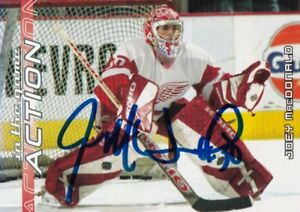 JOEY MacDONALD, DETROIT RED WINGS, RARE AUTO'D/SIGNED NHL CARD.