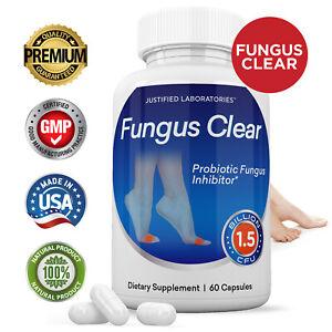 Fungus Clear Premium Probiotic 1.5 Billion CFU Improves Toe Nail Health 60 Caps