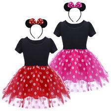 Baby Girl Kids Minnie Mouse Costume Birthday Party Princess Fancy Tutu Dress up