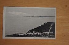 Rare Vintage Postcard Lake Ontario & Niagara River Showing Fort USA  Canada 4453
