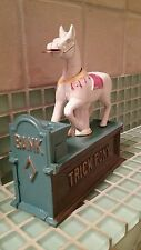 Vintage Cast Iron Trick Pony Mechanical Coin Bank ~ *Collectible Works Well*