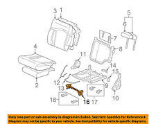 Hummer GM OEM 03-06 H2 Third Row Seat-Lock 19127808