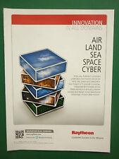 6/2011 PUB RAYTHEON DEFENSE AIR LAND SEA SPACE CYBERSPACE ORIGINAL ADVERT