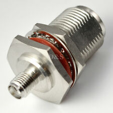 SMA Buchse auf N Buchse mit Mutter Bulkhead HF Koaxial Adapter Steckverbinder