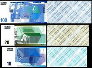 GERMANY TEST NOTES SPECIMEN SIEMENS NIXDORF 3 PCS SET .TREND FOR THE FUTURE