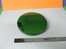 OPTICAL LARGE COATED MIRROR WINDOW MIL SPEC GRUMMAN LASER OPTICS AS IS BIN#31-65