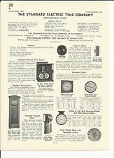 STANDARD ELECTRIC TIME 1941 Catalog ASBESTOS in Schools Johnson Service Co.