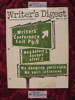 WRITER'S DIGEST May 1974 Isaac Bashevis Singer Nancy Henderson Jack Nusan Porter