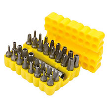 H-QUALITY 33 SECURITY BIT SET SCREWDRIVER BIT TOOL 60mm HOLDER TORX STAR HEX -