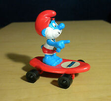 Smurfs Surfin Papa Smurf Hardees Red Skateboard Vintage Figure Toy PVC Figurine