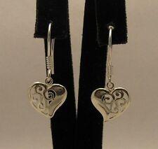 Boucles d'oreilles en argent sterling massif 925 coeur e000356 Impératrice