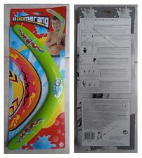 Boomerang azzurro con istruzioni cm 38 vacanza mare spiaggia monti gioco vintage