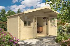 40 mm Gartenhaus 380x380 cm + Fußboden + Statik Gerätehaus Holzhaus Holz Neu