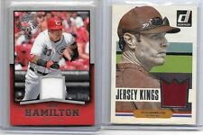 JOSH HAMILTON LOT OF (2) DIFFERENT AUTHENTIC GAME USED JERSEY CARDS