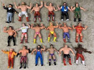 WWF LJN Lot Of 18! Decent Shape Hogan Macho Bulldogs Piper Vintage Titan Sports
