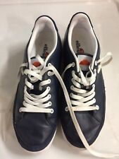 ELLESSE ALASSIO Men's Fashion Trainers Size 8 Navy Leather