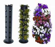 TORRE FIORITA GARDEN TOWER Vaso x 30 piante petunie, gerani, fragole h80cm