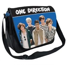 NEW ONE DIRECTION 1D DELUXE SHOULDER MESSENGER GYM SPORTS SCHOOL BAG BLUE 247921