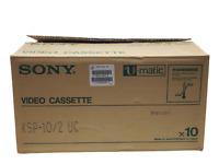 Lot x 10 Sony Back Coated KSP-10 Video Cassette Tape U-Matic Blanks