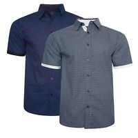 Mens Designer Short Sleeve Stylish Cotton All Over Print Summer Casual Shirt Top