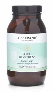 Tisserand TOTAL DE-STRESS Bath Salts Crystals Geranium/Orange/Nutmeg 350g