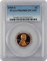 1985-S Lincoln PROOF Cent Graded PR69RD DCAM by PCGS