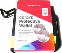 YELLOW & BLACK 48 CD DVD DISC CARRY CASE HOLDER PROTECTIVE STORAGE WALLET CAR
