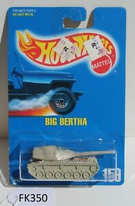 Hot Wheels HW Big Bertha Tank #159 Fair-good card FNQHotwheels FK350