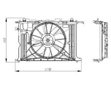 Dual Radiator and Condenser Fan Assembly TYC 622130