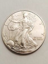 2003 AMERICAN DOLLAR 1oz FINE SILVER DOLLAR EAGLE BEAUTIFUL
