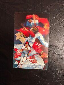 St. Louis Cardinals 1977 MLB Baseball Pocket Schedule Card - Busch