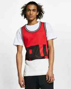 NEW Nike Air Mesh Tank Top Men Loose Fit Red AR1843-657 Red Black White $60