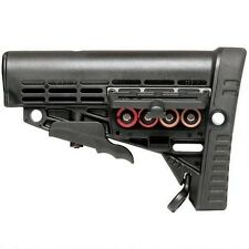 Command Arms CBSM Polymer Black Collapsible Buttstock Mill Spec with Storage