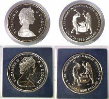 1988 $1 Canada Silver Ironworks 2 Coin Set Original Mint Capsules KM# 161