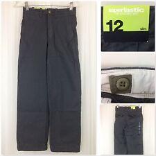 NEW Gap Kids Boys Navy Blue Chinos Pants 12 SLIM Adjustable Waist Khakis Uniform