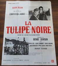Rare Ancienne Affiche Cinéma LA TULIPE NOIRE. Alain DELON. Cinema Movie Poster.
