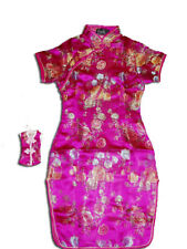 Girls Flower Oriental Chinese Dress Qipao Cheongsam with Purse 9M to 14 Years
