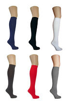 Ladies Knee High Pop Cotton Socks Assorted Colours Back To School Girl Size 4-7
