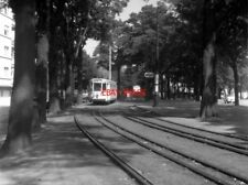 PHOTO  BELGIUM TRAMS 1959  BRUXELLES PARC ELISABETH N TRAM NO 10466 ON ROUTE AI