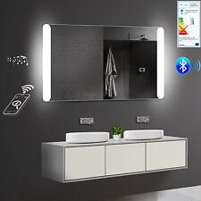 LED Bad Badspiegel Badezimmerspiegel Warm/Kaltweiß Bluetooth 140x81cm LMY140X81