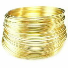 """2"""" gold plated stainless steel bracelet memory wire, 1 oz."""