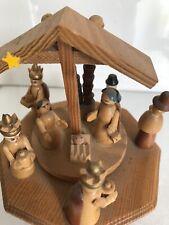 Alte Spieluhr Spieldose Christi Geburt Erzgebirge
