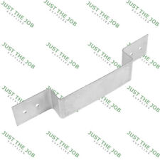 "Fence Panel Security Brackets - Galvanised - 233 x 40mm - Fits 4"" (100mm) Posts"
