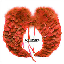 Dollmore BJD Article Size SD - Round feathers wings (Red)