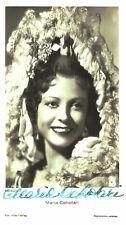 Maria Cebotari    *  Autogramm Karte Ross mit original Unterschrift -Nr.  730