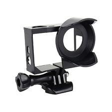 For GoPro HERO 3 3+ 4 BLK Camera Border Case Housing Frame Mount + UV Protector