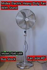 "Midea Heavy Duty Electric Fan With Stand  40"" (No Packing Box) (A100)"