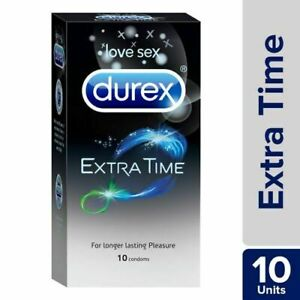 Durex Extended Pleasure Extra Time Intense Sex Delay Pack Of 10 Condoms Longer