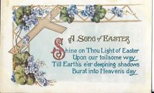 Early Easter Postcard A Crosss And Poem Early 1900S